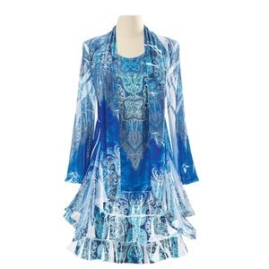 Pyramid Collection Blue Waters Dress